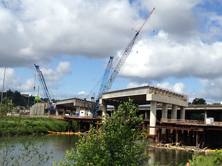New northbound I-5 bridge takes shape in Tacoma