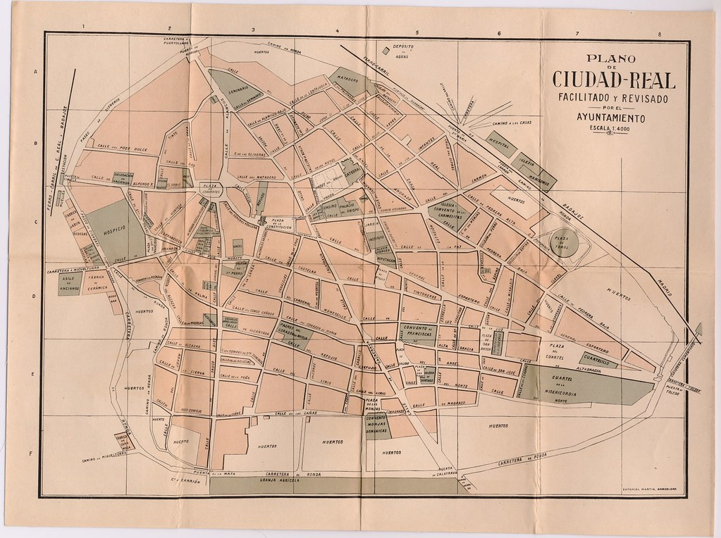 Plano de ciudad real facilitado y revisado por el ayunta - Plano de ciudad real ...