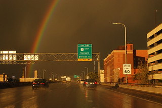Spokane rainbow on I-90