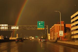 Spokane rainbow on I-90