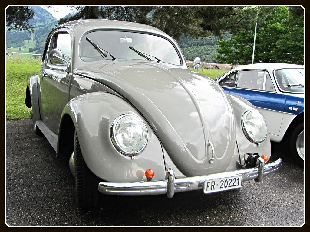 Vw beetle split windows standard 1952 5 me rencontre for 1952 split window vw bug