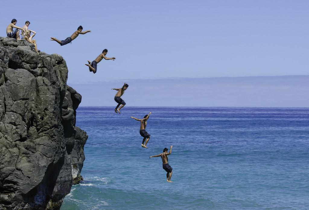 Cliff Jumping Hawaii Big Island