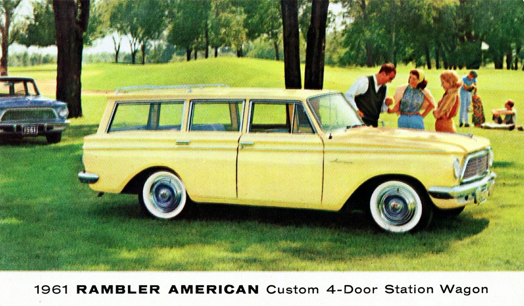 1961 rambler american custom 4 door station wagon alden for American custom classics
