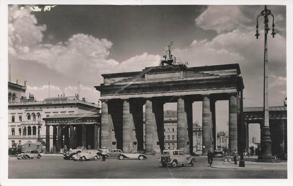 Berlin Germany Brandenburg Gate Brandenburger Tor 1930