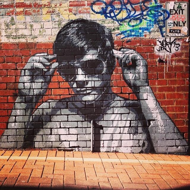 Wall Art The Brick : Bricks cool brick wall graffiti mrcool streetart a