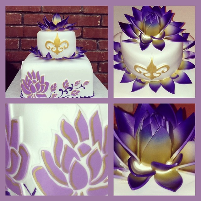 lotus flower wedding cake it was a pleasure to work with