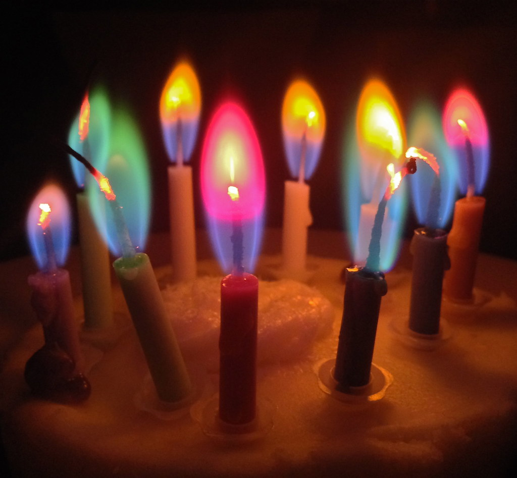 Cool Colored Candles With Metal Salts From Our Rocket Pro