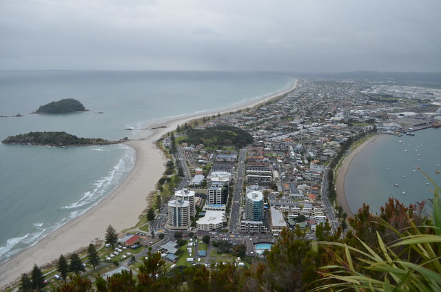 view of Mount Maunganui, FROM Mt. Maunganui