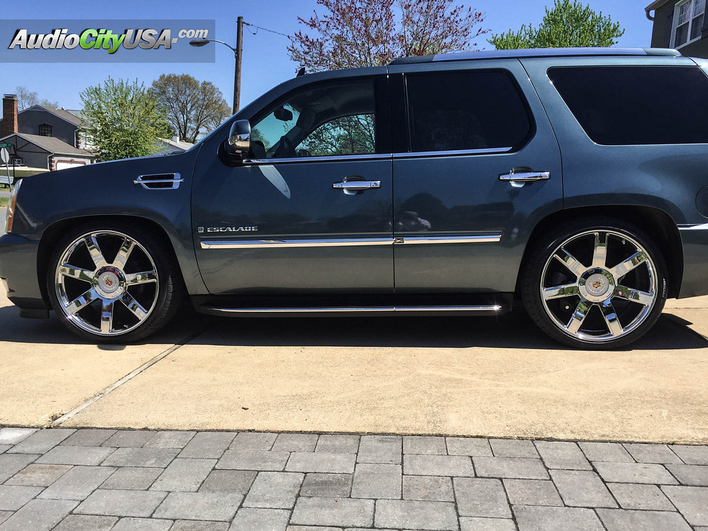 24 wheels chrome - 2008 Cadillac Escalade On 24 Quot Escalade Platinum Edition Wheels Chrome By Audio City On Flickr