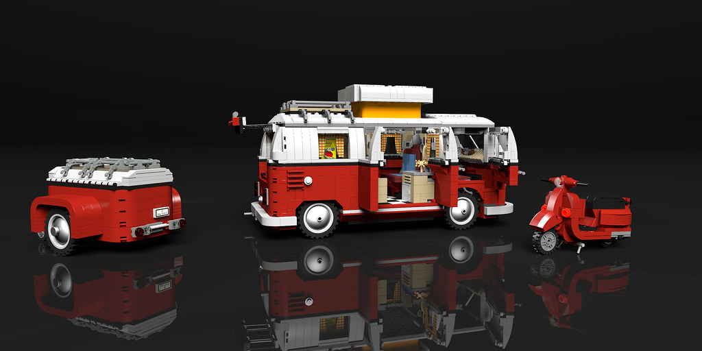 Lego 10220 Lego 10220 Volkswagen T1 Campingbus Povray