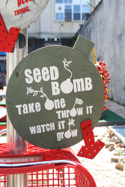 Seed bomb - take one, throw it.