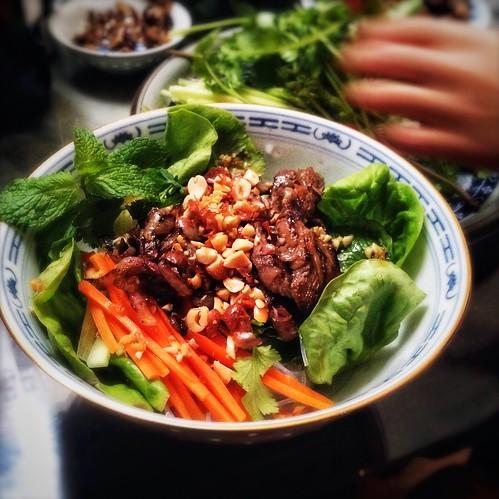 beef, Bun Bo Xao, lemongrass, recipe, Rice Noodles, salad, Vermicelli ...