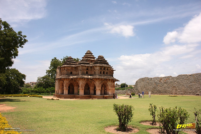 Lotus Mahal pavilion in Zenana Enclosure, Hampi, Ballari district, Karnataka, India