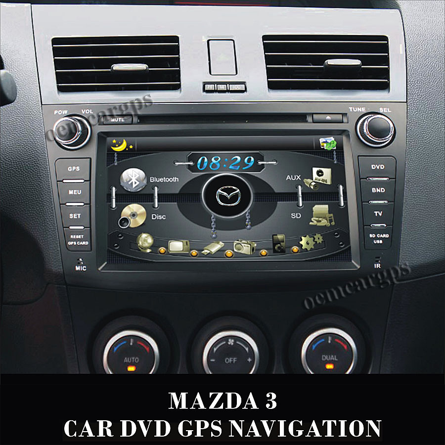 8 inch auto gps navigation f r mazda 3 mit dvd radio bluet. Black Bedroom Furniture Sets. Home Design Ideas
