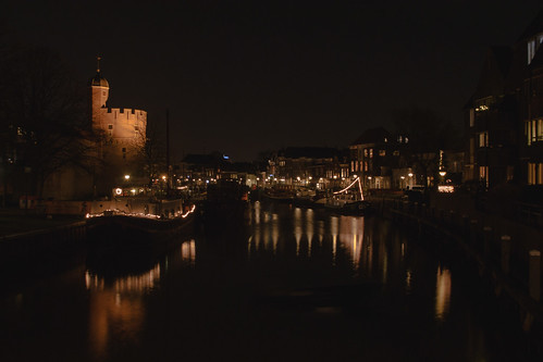 Beautiful view of Zwolle at night