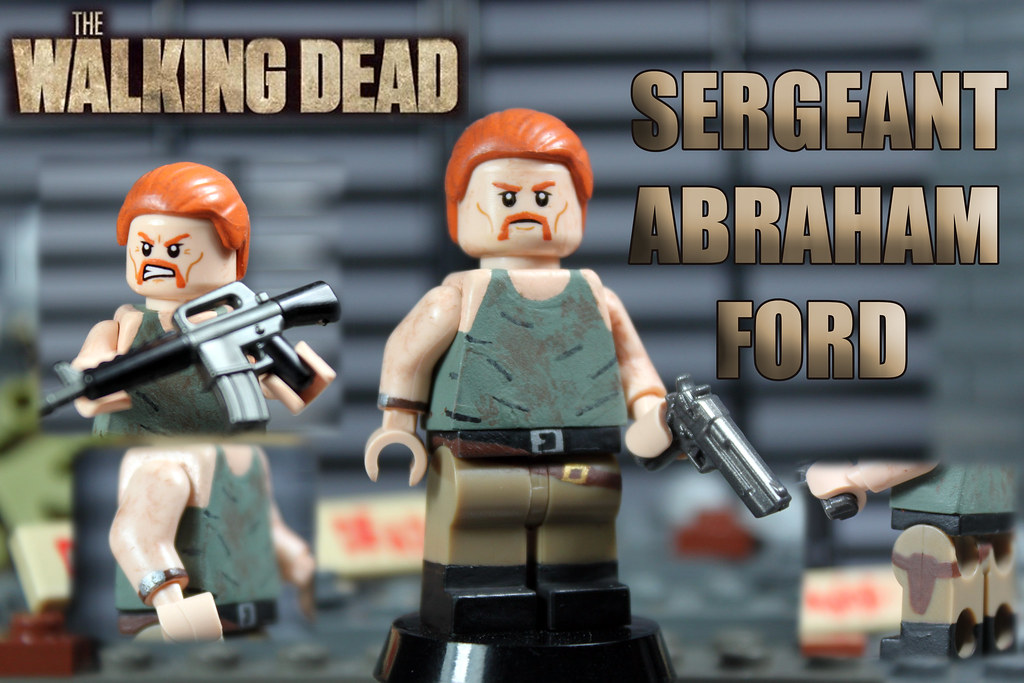 custom lego the walking dead season 4 sergeant abraham. Black Bedroom Furniture Sets. Home Design Ideas