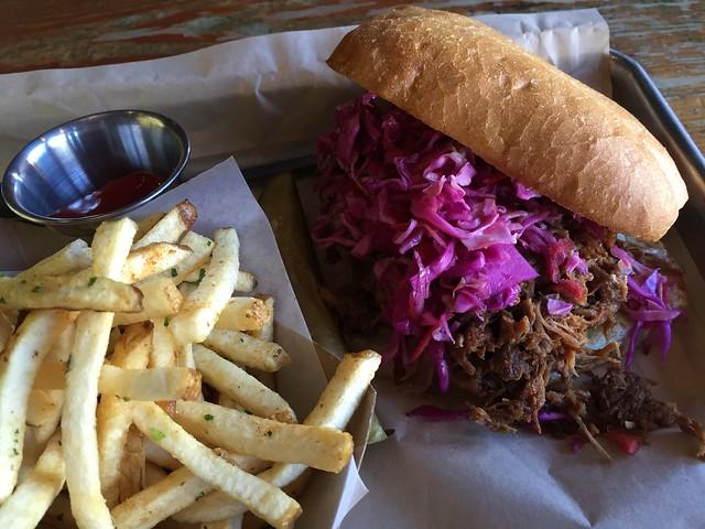 Pulled pork sandwich - Hi Tops