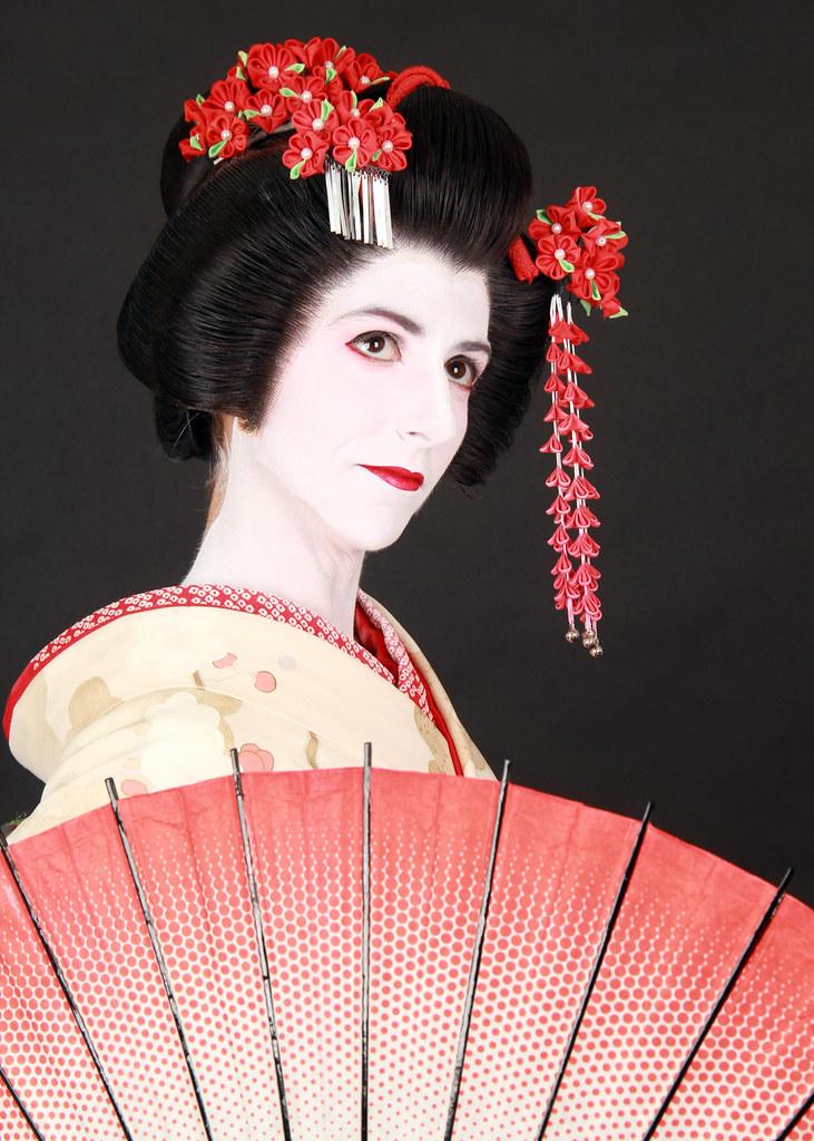 Disfrazados con trajes típicos de Japón