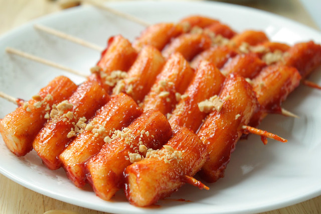 Korean Spicy Rice Cake Skewers Ddukochi  Flickr - Photo -1639