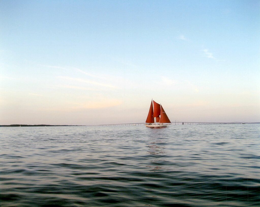Photo of sailboat on Chesapeake Bay by Toni Quigley