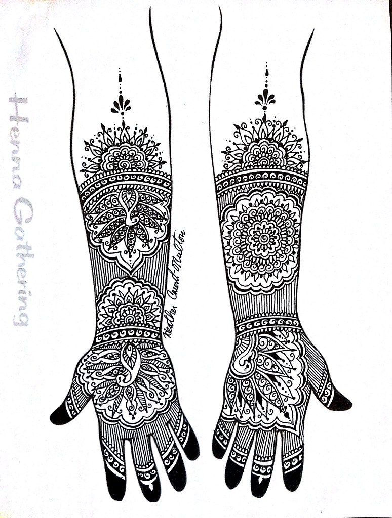 Modern Mehndi Indian Fusion Bridal Henna Design