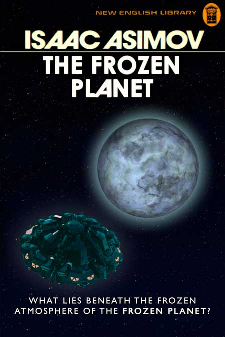 The finished book cover titled The Frozen Planet.