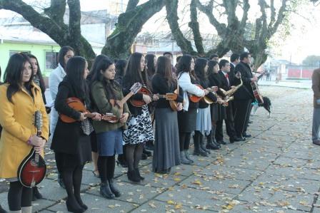 Hualqui recive juventud mixta de Coelemu