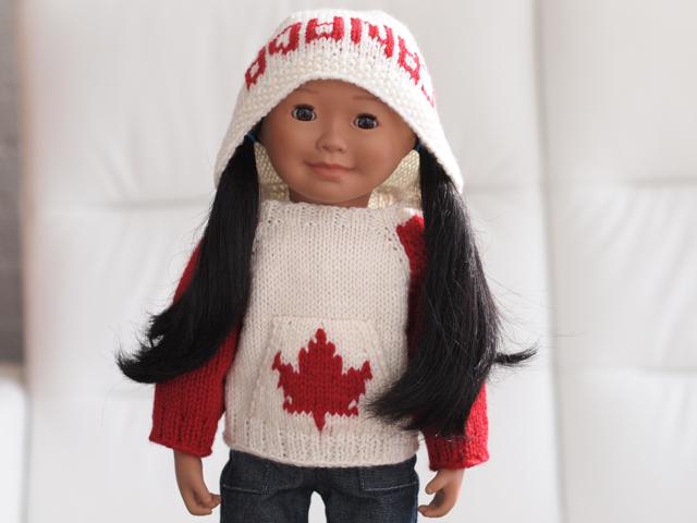 Saila Maplelea Doll in Team Canada Kangaroo Campfire Hoodi ...