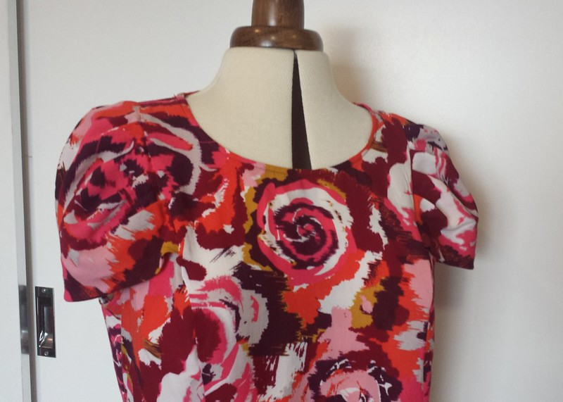 Sewaholic Pendrell blouse in rayon from Darn Cheap Fabrics