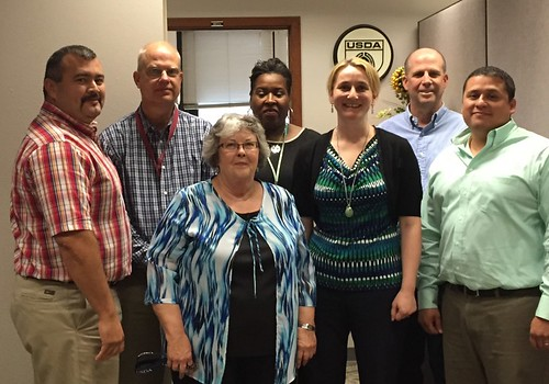 Associate Deputy Administrator Melissa Bailey (center) with staff from Fort Worth, Texas PACA division