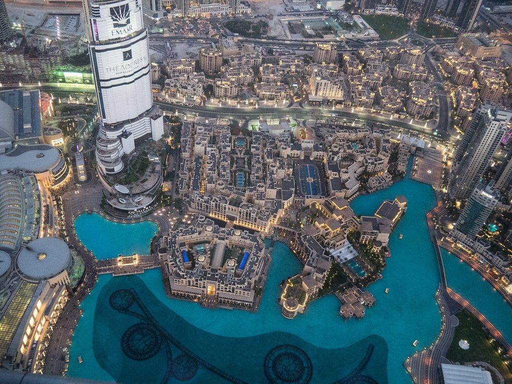 Air photo from the top terrace of the burj khalifa d for Terrace pronunciation