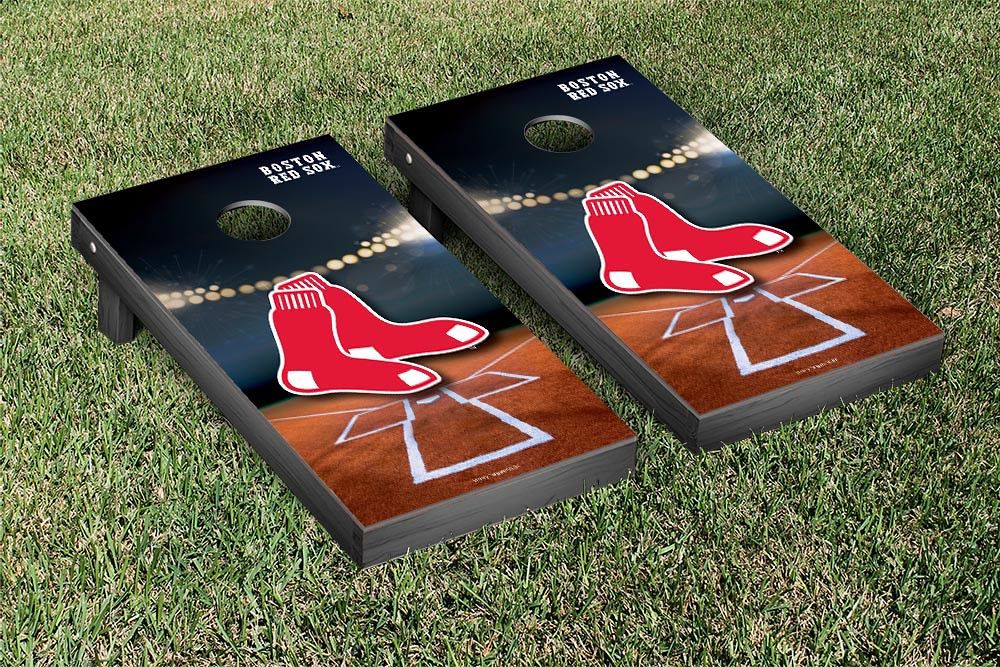 Boston Red Sox Stadium Version Cornhole Board