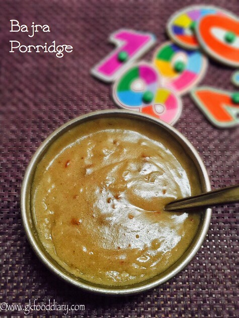 Bajra Porridge Recipe for Babies and Toddlers3