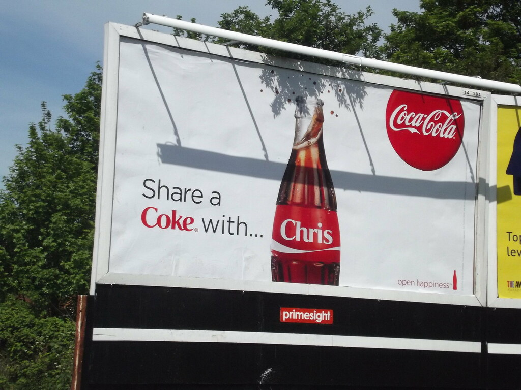 Pershore Road Stirchley Billboard Share A Coke With