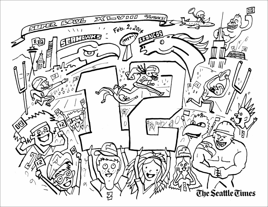 Seahawk Logo Coloring Pages Seattle Seahawks Coloring Pages