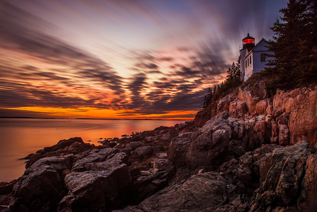 Acadia National Park >> Sunset at Bass Harbor Head Light in Acadia National Park ...