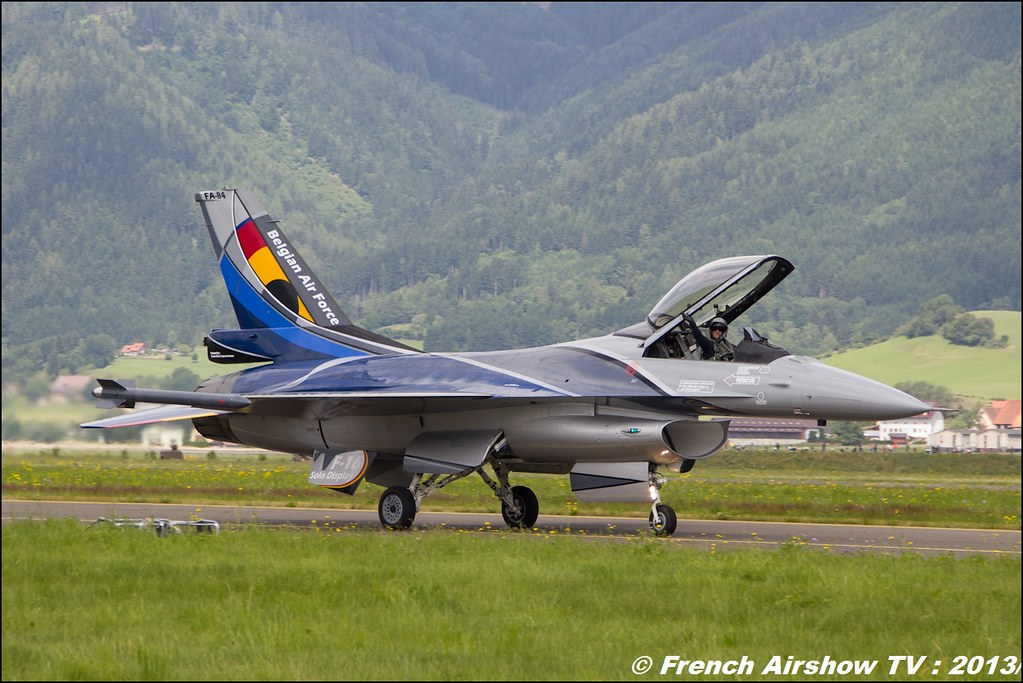 F-16 Solo Display Belge 2013 , F-16 Fighting Falcon belge ,AIRPOWER13 , Zeltweg , Austria , airpower 2013 Zeltweg