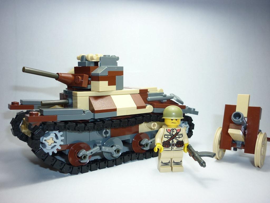 Как сделать из лего танк легко