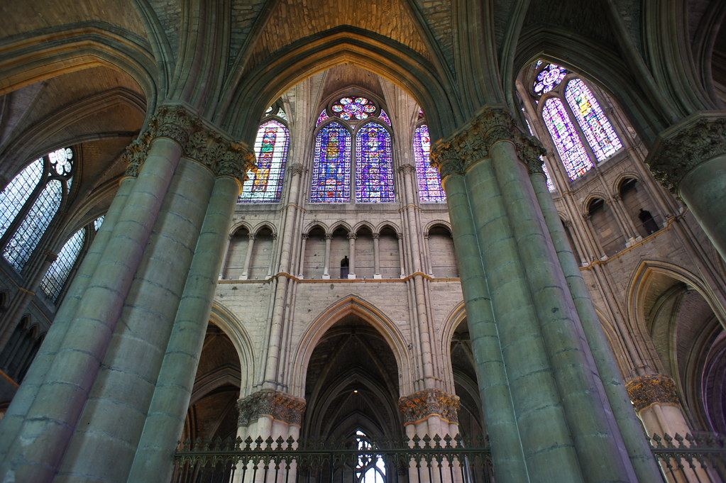 Reims cathedral interior | Reims cathedral interior. View ...