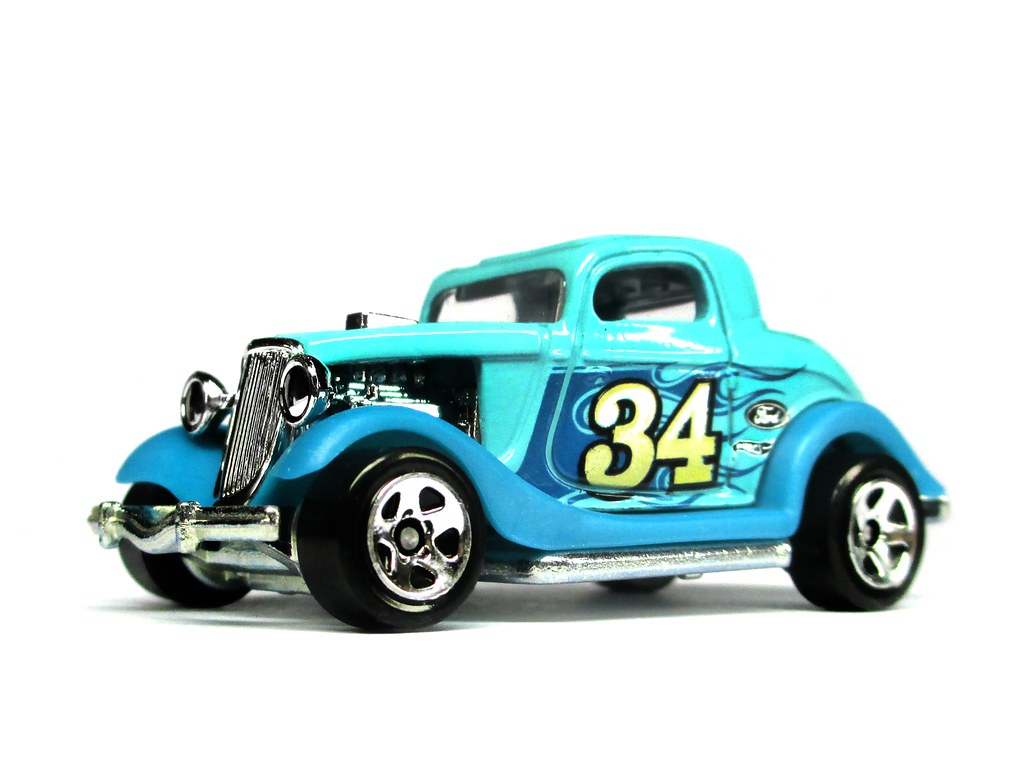 Hotwheels 3 Window 34 Ford Full Metal Body Base A