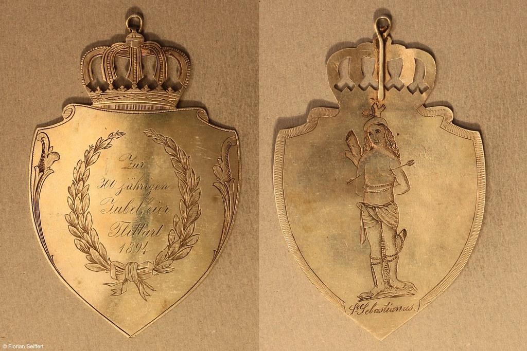 Koenigsschild Flittard von 300jaehrigen jubelfeier aus dem Jahr 1894