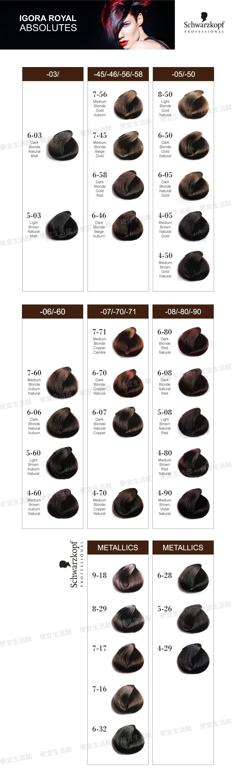 便宜生活館【燙染劑】德國施華蔻Schwarzkopf染髮劑60g 提供全系色澤選擇 (含雙氧乳一組)~
