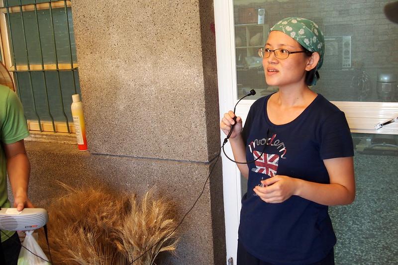 木木家用眷村老屋推廣台灣小麥麵包。攝影:李育琴