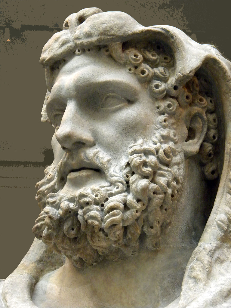 Marble Statue Of A Bearded Hercules Early Imperial Flavi