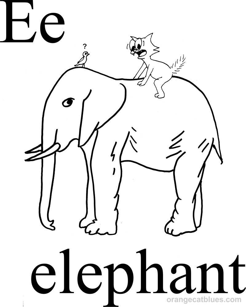 coloring page e for elephant printable coloring page for u2026 flickr