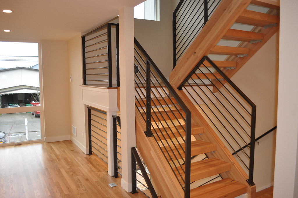 Glulam Beams Stairs Sanded And Finished Evergreen