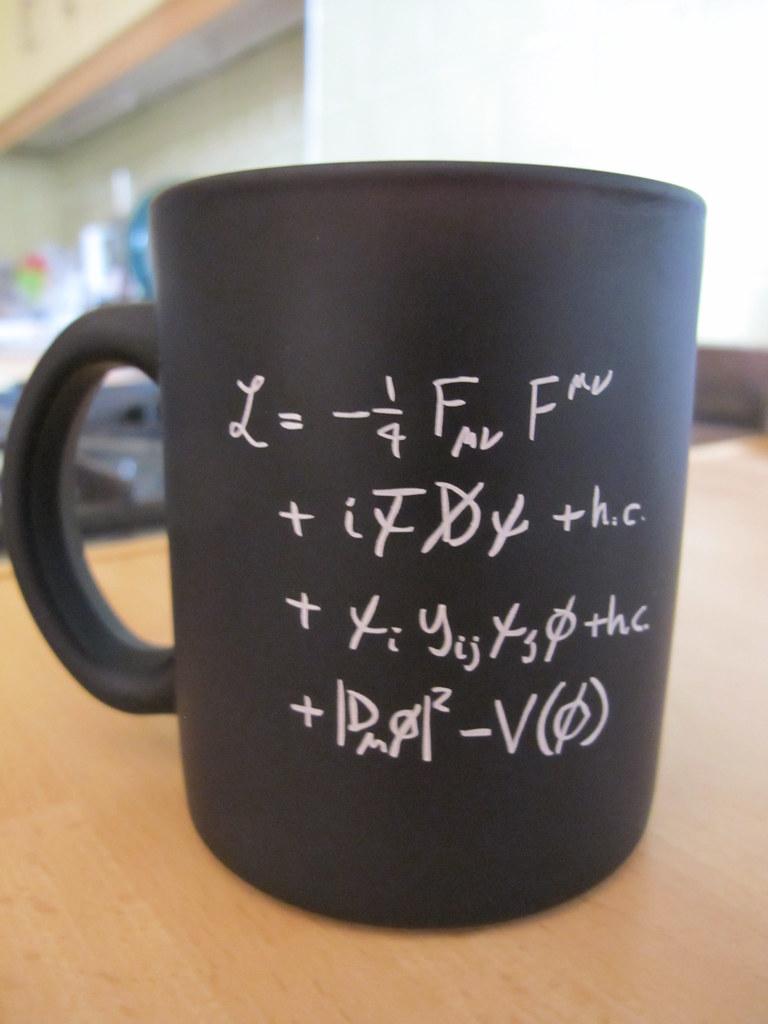 "CERN Standard Model equation mug | ""The equation neatly ..."