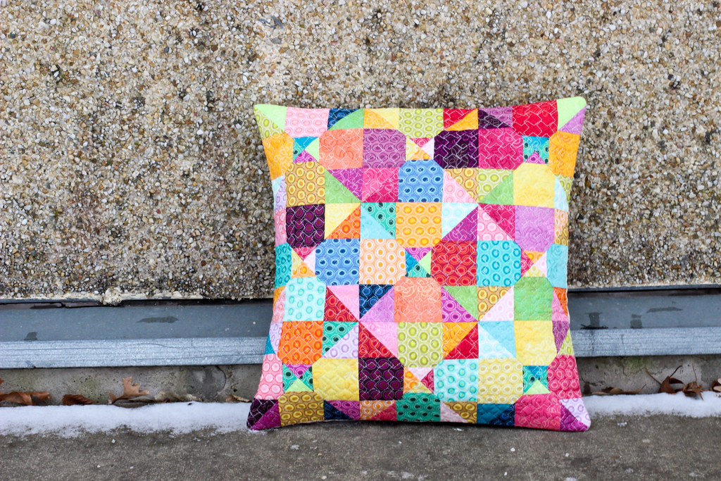 Mystery Quilted Pillow Pattern Blogged at In Color Order Flickr