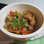Orientalische Möhrenpasta mit Aprikosen und Sesam