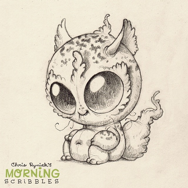 Scribble Monster Drawing : Morning scribbles returns morningscribbles chris